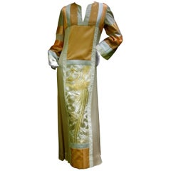Stunning Rare Japanese Style Caftan Gown by Jon Shannon c 1970s