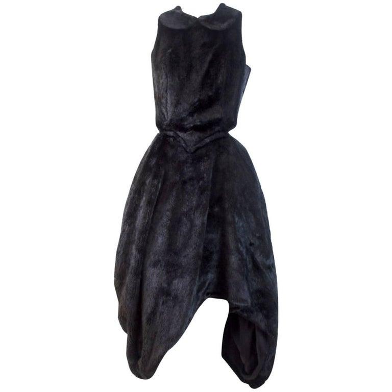 Comme des Garcons Noir Faux Fur 2008 Collection Dress
