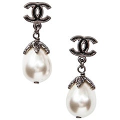 2011 Chanel Earrings Double C and Pearl