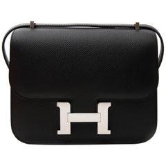 Hermes Black Epsom Mini Constance