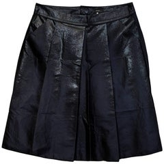 Vera Wang Navy Iridescent Pleated Skirt Sz 8 with Tags rt. $1,035