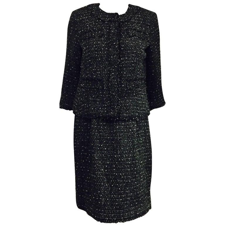Masterful Michael Kors 2 Piece Black/Grey Sleeveless Dress & Cropped Jacket