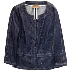 Loewe Triple Breasted Denim Jacket Sz M