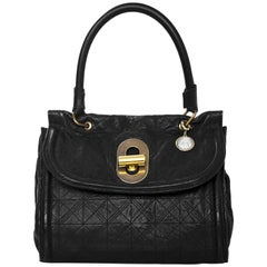 Lanvin Black Quilted Twist Lock Handle Bag