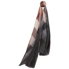 Burberry Ombre Check Silk Scarf