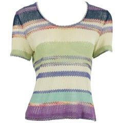 Missoni Multi Chevron Knit Top - 42