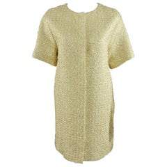 Giambattista Valli Gold metallic brocade dinner coat