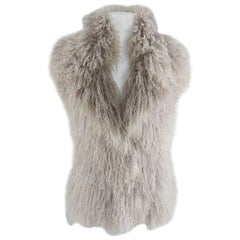Gucci Mongolian lamb fur Vest with wool knit back