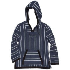 Proenza Schouler Blue Striped Hooded Sweater