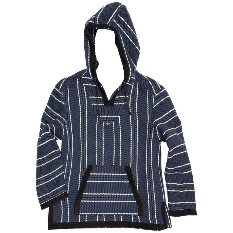 Proenza Schouler Blue Striped Hooded Sweater For Sale