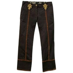 Roberto Cavalli Class Ankle Trousers Pants - Size: 4 (S, 27)