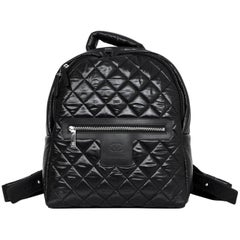 Chanel NEW 2017 Black Quilted Nylon Coco Cocoon Backpack Bag