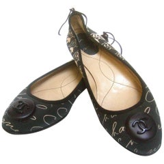 Chanel Iconic Italian Ballet Style Flats in Chanel Box U.S. 8  E.U. 38.5