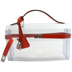 ORIGINAL Mon Autre Sac ® Clutch Crystal Pvc and Red leather / Brand New