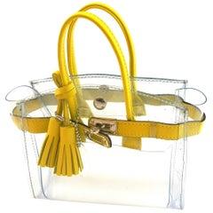 ORIGINAL Mon Autre Sac ® MINI Cabas Diamant pvc and Yellow leather / Brand New €