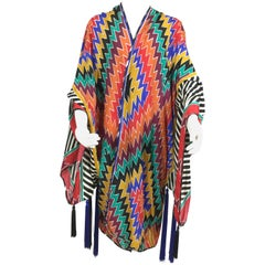 Incredible Adele Simpson Kimono Style Jacket. 1980's.