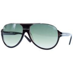 Tom Ford Men's Elliot Sunglasses in Matte Black Gradient Blue