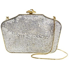 Judith Leiber Crystal Minaudiere Evening Clutch Bag