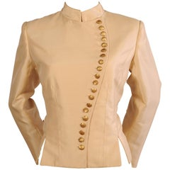 Maggie Norris Haute Couture Silk Faille Jacket
