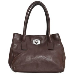 Furla Brown Leather Tote Bag
