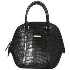 Burberry Black Alligator Orchard Handle Bag rt. $25,000+