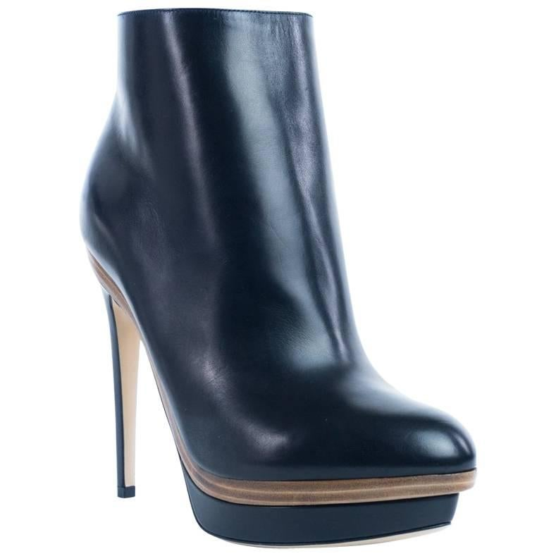 Boots for Women, Booties On Sale, Black, Leather, 2017, 5.5 Fendi