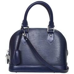 Louis Vuitton Indigo Epi Leather Alma BB Crossbody Bag with Box and DB