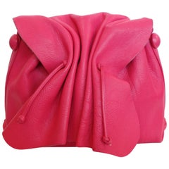 Bubblegum Pink Carlos Falchi Cinched Shoulder Bag