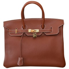 Hermes Birin ToGo 35cm Noisette Brown Bag