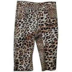 Roberto Cavalli Class Capri Pants Shorts - Size: 14 (L, 34)