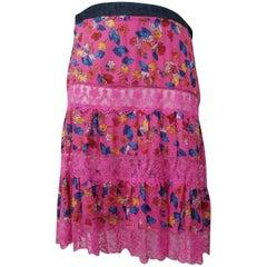 Dolce&Gabbana Lace Skirt - Size: 12 (L, 32, 33)