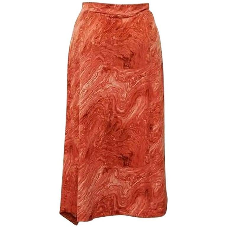 Michael Kors Marble Print Skirt - Size: 10 (M, 31) 1
