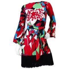 1960s Saint Laurent Rive Gauche Fringe Dress