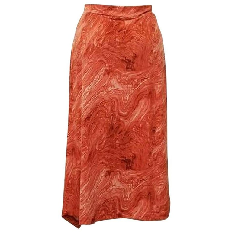 Michael Kors Marble Print Skirt - Size: 6 (S, 28) For Sale