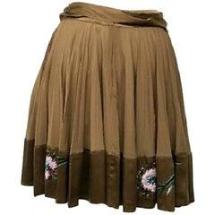 Roberto Cavalli Pleated Skirt - Size: 4 (S, 27)