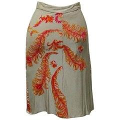 Roberto Cavalli Tan Skirt - Size: 4 (S, 27)