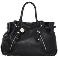 Furla Black Leather Carmen Zip Tote Bag