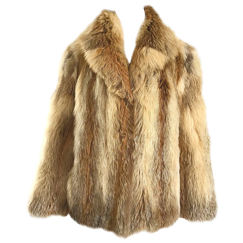 Gorgeous Vintage Red Fox Fur Jacket Excellent Condition, 1950s
