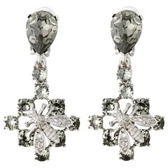 Oscar de la Renta Silver Bee Earrings