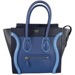 Celine Micro Luggage Phantom Bag - Tri tone Blue