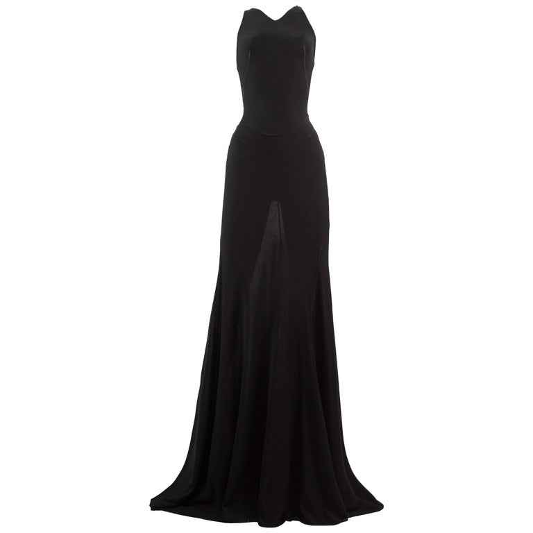 Alaia couture black full length knitted evening gown, Autumn-Winter 2001
