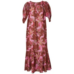 Chloe Floral Pattern 70's Maxi Dress