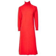 Halston Chasmere Turtleneck Sweater Dress