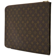 Louis Vuitton Monogram Men's Women's Carryall Laptop Travel Briefcase Clutch Bag
