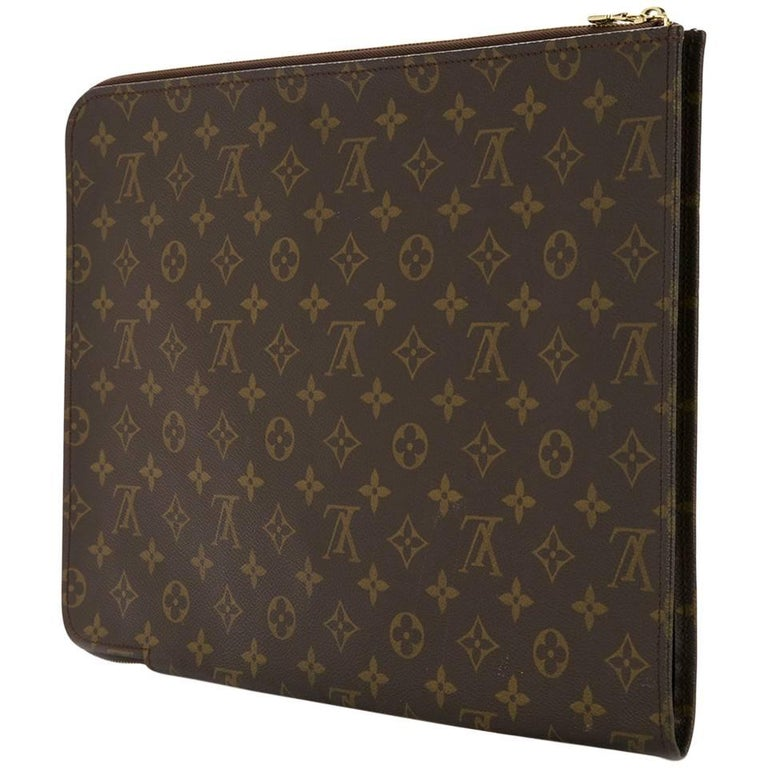 374044f33c04 Louis Vuitton Monogram Men s Women s Carryall Laptop Travel Briefcase Clutch  Bag For Sale