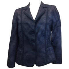 Akris Blue Silk Blazer