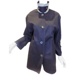 Hermes navy raincoat Jacket rare to find