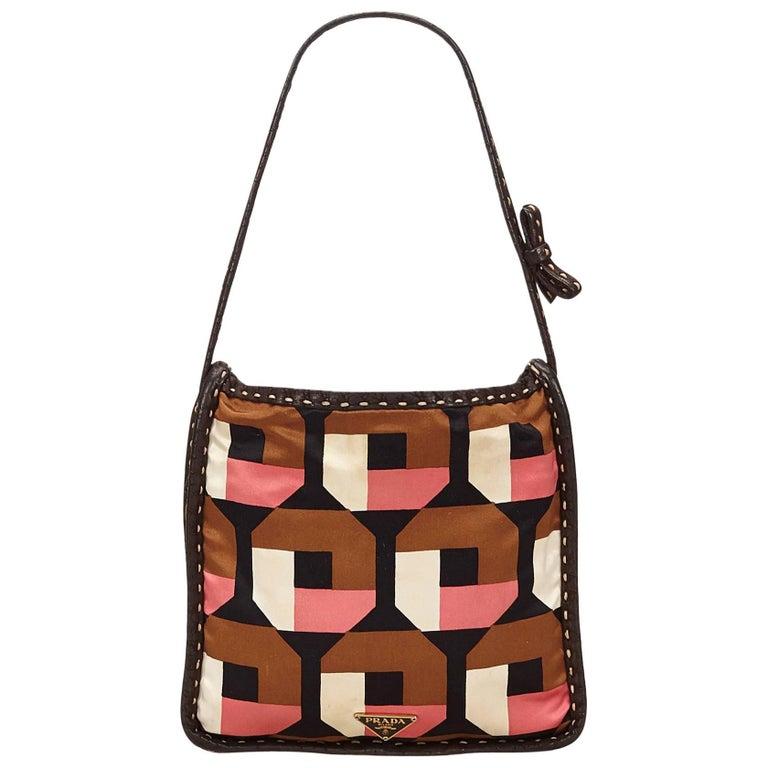 Prada Pink and Multi Colour Saffiano Print Handbag