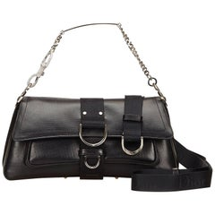 Christian Dior Black Leather Shoulder Bag
