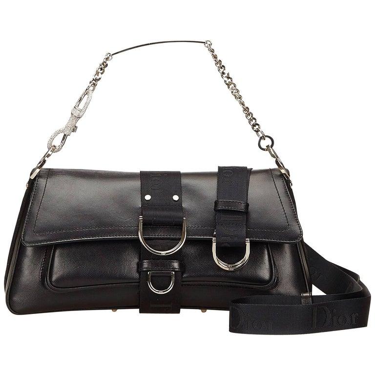 Christian Dior Black Leather Shoulder Bag at 1stdibs 9fabc9302690f
